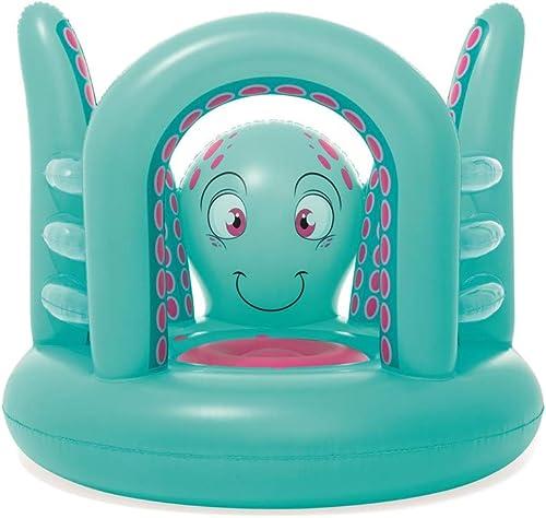 Mr. Fragile Hüpfürgen, Aufblasbares Spielzeughaus-Oktopus-Trampolin für Kinder mit Ozeanball und Luftgebl , für Unterhaltung im Haus, für Kinder von 3-6 Jahren, 142 cm  137 cm  114 cm