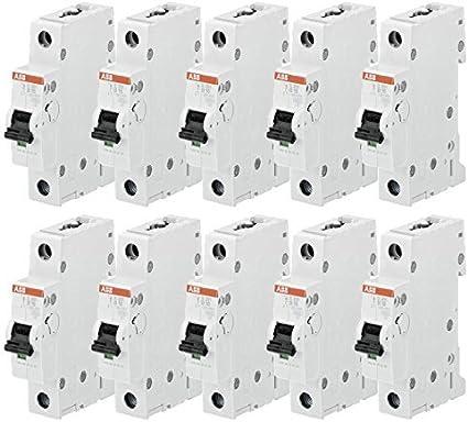 ABB Leitungsschutzschalter 10er Pack B 16A, 1-polig, 6 KA (10)