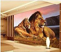 3D壁紙写真HDアフリカの草原ライオンリビングルーム寝室テレビ背景壁家の装飾壁-250x175cm