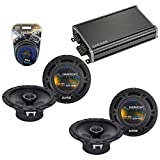 """Harmony Audio Compatible with 2007-2017 Jeep Wrangler HA-R65 6.5"""" New Factory Speaker Replacement Upgrade Package 300W Speakers & Grills with 46CXA3604 Amplifier and HA-AK10 10 Gauge Amp Install Kit"""