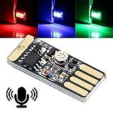 ZSSGSHR El Tacto y el Control de Sonido del Coche Atmósfera de luz automático lámpara Decorativa Car Styling luz RGB música con USB Socket Automotriz Decorativa