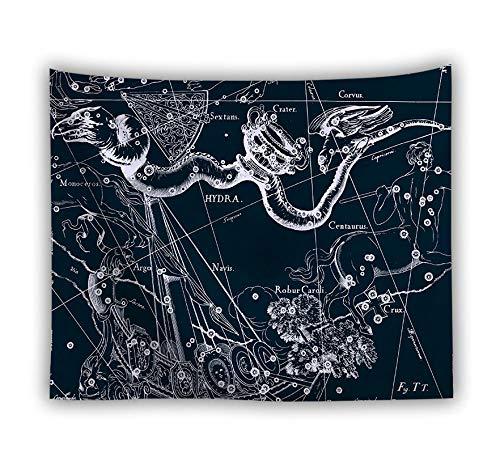 Wandteppich,An Der Wand Trippige Psychedelische Retro Sternbilder Hydra,Große Größe Polyester Art Decor Drucken Stoff Wandteppiche Für Wohnzimmer Schlafzimmer Home Dekorationen Picknick Mat,