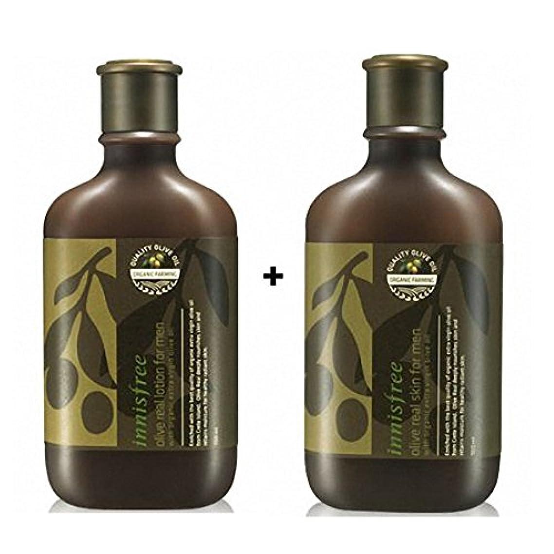 検証明るいドナウ川[イニスフリー] Innisfree オリーブリアルローション.スキンフォアマンセット(150ml+150ml) Innisfree Olive Real Lotion.Skin Set  For Men(150ml+150ml)  [海外直送品]