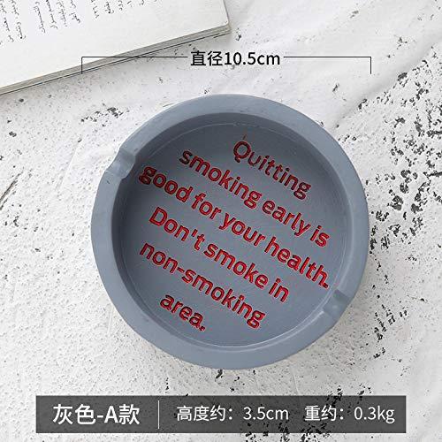 Guo Hengbo Feld Europäische Retro Haushalt Harz Aschenbecher kreative Persönlichkeit Englisch Bar Cafe Desktop Aschenbecher Ornamente grau - A