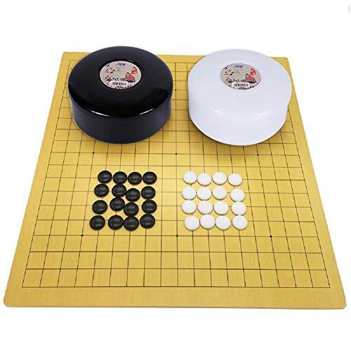 lossomly Go Juego de Tablero de ajedrez Plegable de plástico para niños, para Principiantes y Jugadores Famous Adorable
