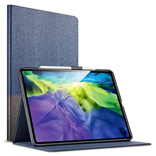 ESR Urban - Capa de livro com função de suporte para iPad Pro 11 2020 e 2018 (compatível com 2 canetas de carregamento sem fio), design de livro, suporte de tela multi-ângulo, ligar / desligar automaticamente para iPad de 11 polegadas, Knight