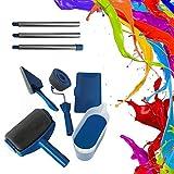 6 Unids / Set DIY Kit De Rodillo De Pintura Habitación Pintura De Pared Runner Pintar Fácil Decoración Herramientas De Pintura Del Hogar Decorativo Rodillo