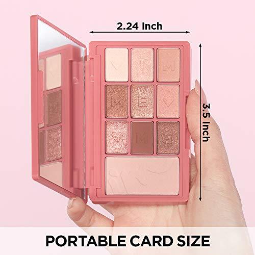 正規品公式ショップ|アイムミミ(I'MMEME)アイムヒドゥンカードパレット|ポータブルサイズアイシャドウ9色とチークパレット1色ミラー付き|(002ラブカード)