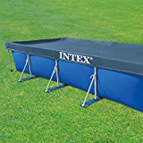 Intex 28039 Bâche de protection pour piscine rectangulaire, Bleu, 450 x 220 x 20 cm