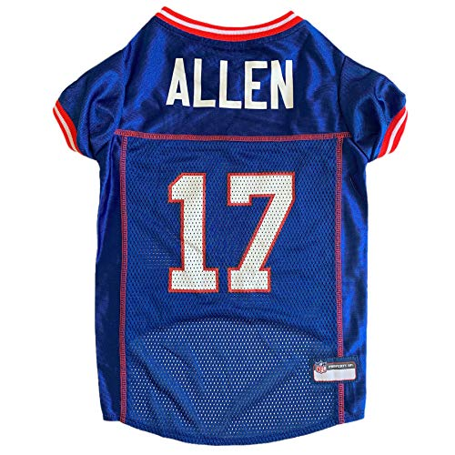 Pets First NFL Buffalo Bills Josh Allen JPA-4100-XS, Blue, X-Small