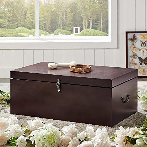 Premium Wood Pet Casket (Large) - Hand Crafted Pet Coffin Suitable for Dogs, Cats and Other Furry Friends