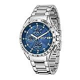 Sector Herren Chronograph Quarz Uhr mit Edelstahl Armband R3273687002
