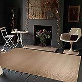 LJN_Home Moderna ContorneadaHogar Alfombra Rectangular de Camello sofá Mesa de café Dormitorio Alfombra de Piso Lavable, 120 × 200 cm
