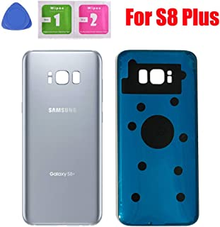 Back Glass Cover Battery Door Replacement for Samsung Galaxy S8 Plus G955 (Silver)