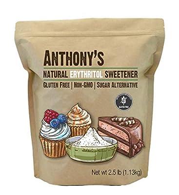 Anthony's Erythritol Granules, 2.5 lb, Non GMO, Natural Sweetener, Keto & Paleo Friendly