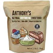 Anthony's Erythrit-Granulat, 2,5 lbs, ohne GVO, natürlicher Süßstoff, Keto & Paleo-freundlich