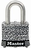 Master Lock 3sskadhc resistente a la intemperie Candado laminado, acero inoxidable, 1.5-in., llave