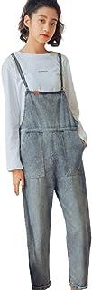「TongYi ドウゲイ」レディース サロペット オーバーオール パンツ ジーンズ ロンパース カジュアル オールインワン 5サイズ