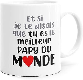 Mug Humour Meilleur Papy du Monde Tasse Message drôle. Idée Cadeau Original Imprimé en France Ami, Couple Amoureux Collègu...