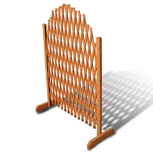 Festnight Ausziehbarer Spalierzaun aus Holz Zaunelement Rankgitter Rankhilfe 180 x 100 cm