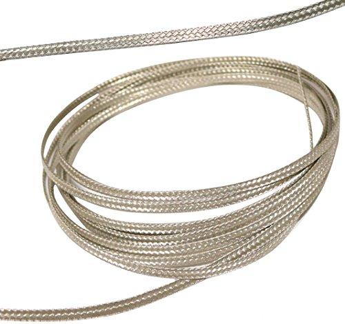 AERZETIX: 2 Meter Kabelmantel 3 mm 15 A geflochten verzinntes Kupfer 16 x 4 x 0,15 mm C17638