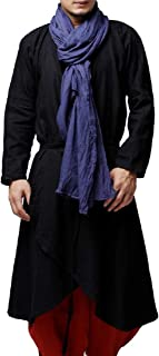 Howme-Men Chinese Style Linen Blend Cardigan Trench Coat with Belt