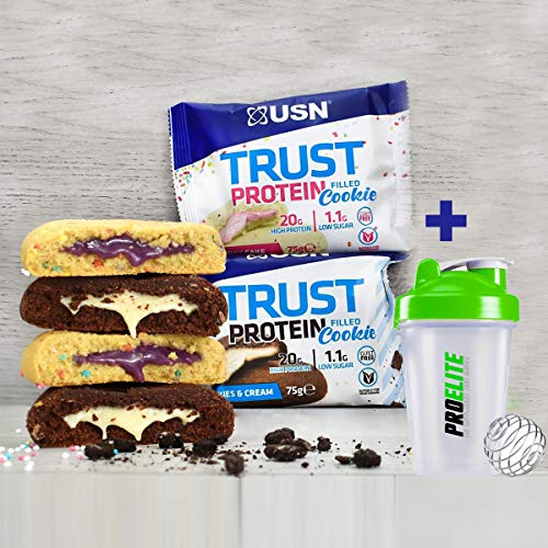 USN Trust Protein Filled Cookie 12 x 75g High Protein Low Sugar Cookies
