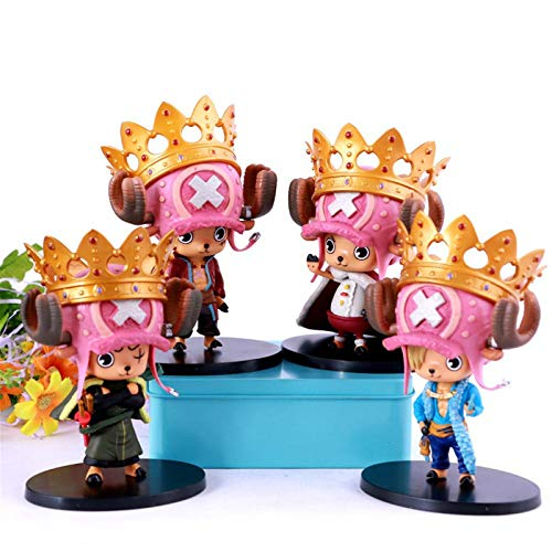 One Piece 4 Cos Chopper Hecho a Mano Sanji Luffy Zoro Crown Chopper Modelo Decoración Modelo De Personaje De Animación,H:12cm