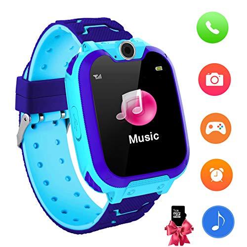 Reloj Inteligente para niños con Juegos - Niños Chicas Reloj Digital Pulsera de 2 vías Llamada Reloj Despertador Juegos de cámara Reloj Infantil para niños de 3 a 12 años