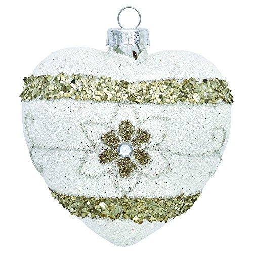 Green Gate xmahe aglau8706Laurie Ciondolo a forma di cuore Strass Bianco/Oro 8cm