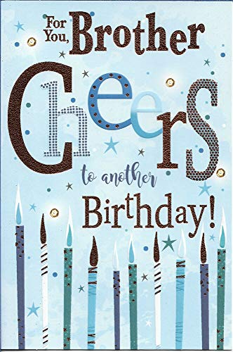 Diuangfoong BROTHER BIRTHDAY GREETING CARD 9'X6' TEXT/CANDLES FREE P&P