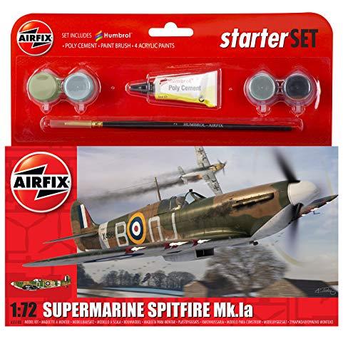 Airfix A55100 1/72 Small Starter Set, Supermarine Spitfire Mk.Ia Modellbausatz
