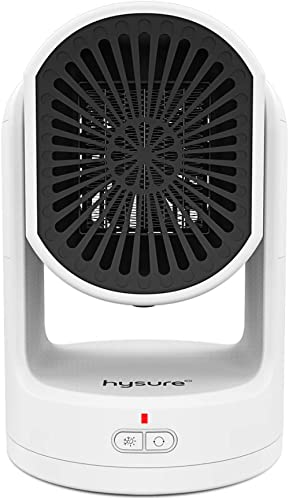 Hysure Heater Fan, Space Heater, Electric Air Heat,Safe & Portable for Office Room Desk Indoor Winter Use, Model H1 W...