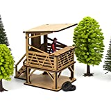 Surveillance Stands 1:32 Scale for Slot Tracks, Wooden Kit for DIY Assembly Compatible with Car Circuits Scalextric, Ninco Slot, Scalextric Original, Racing and ScaleAuto (PSH Position)