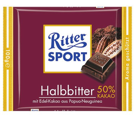 Ritter Sport Halbbitter - 5 x 100 gr.