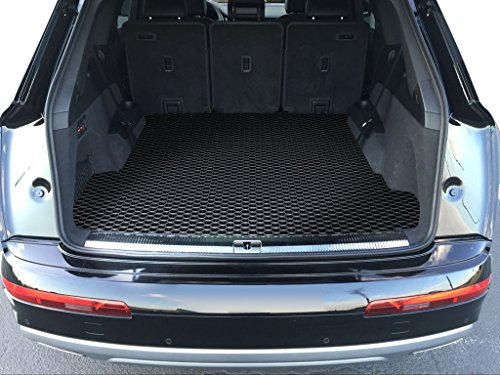 TOUGHPRO Cargo/Trunk Mat Accessories Compatible with Audi Q7 - All Weather - Heavy Duty - (Made in USA) - Black Rubber - 2017, 2018, 2019, 2020, 2021