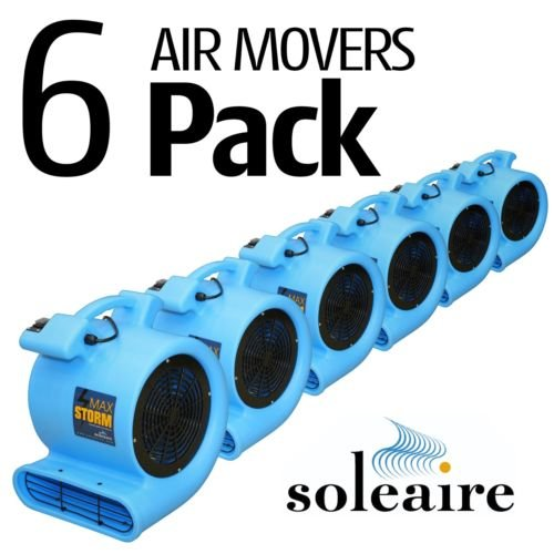 Soleaire SA-MS-PR Max Storm 1/2 HP Durable Lightweight Air Mover Carpet Dryer Blower Floor Fan for Pro Janitorial, Purple