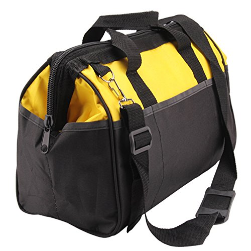 Mutiwill Heavy Duty Tool Bag Strong Bag Storage Muti Purpose With Shoulder Strap Yellow and Black