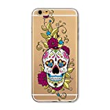 Coque Iphone 5 5S Se Tete Mort Mexicaine Fleur Calavera Tatoo Transparent