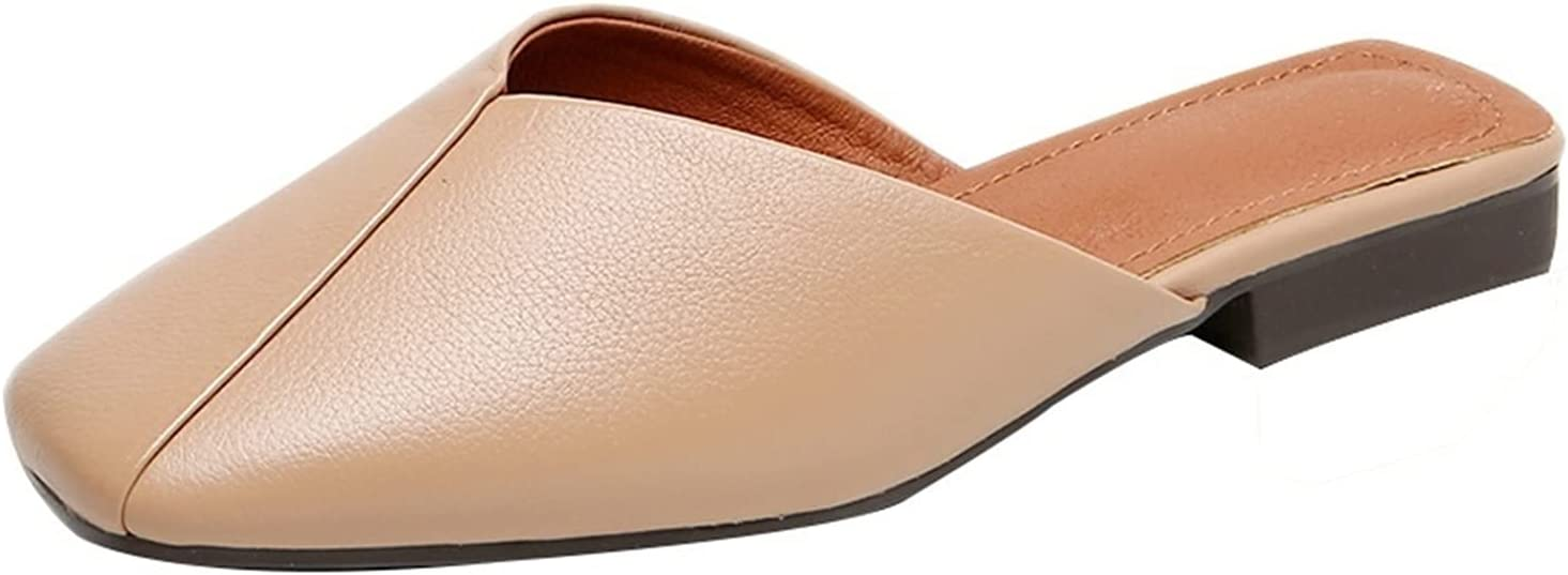 QUNHU Women's Sandal,Women's Fine Slingback Sandal Comfortable Summer Beach Slippers,Large Size Breathable Anti Slip Casual Outdoor Walking Shoes (Color : Brown, Size : 41EU)
