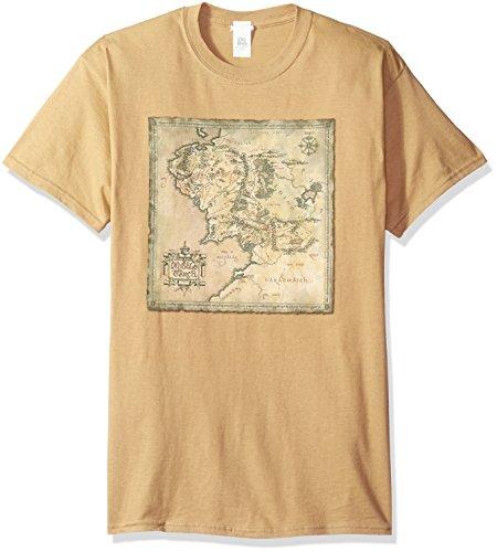 Trevco Herren T-Shirt Herr der Ringe Kurzarm - Grün - Mittel