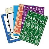 Wenn Nicht Jetzt Postkarten-Set »Wohnmobil-Glück« | 6 XXL-Postkarten (12 x 17,5 cm) | mit Motiven und Sprüchen zum Thema Camping – als Deko im Camper oder Geschenk