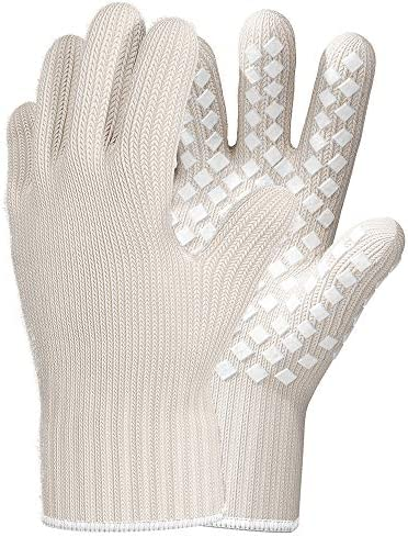 Heat Resistant Gloves Oven Gloves Heat Resistant White BBQ Gloves For Grilling Gloves Cooking product image