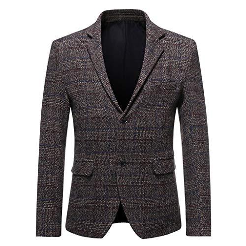 Tweed casual slim fit blazer klassieke stijl Britse stijl wandeljas voor heren formele kleding due-fibbia winterjas casual mantel elegante suit top offerta - Chic - - Medium