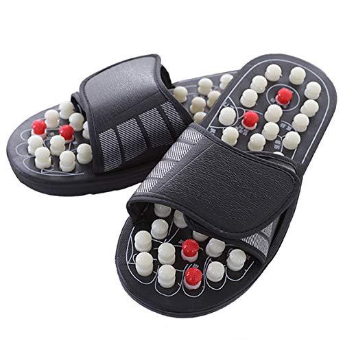 Evaliana Acupoint Rotating Foot Massage Shoes Slippers Sandal Feet Reflexology Acupressure Acupuncture Therapy Medical Unisex, Size 44-45, X-Large