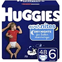 48-Count Huggies Overnight Diapers, Size 6