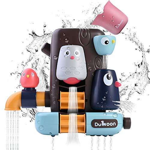 JBSON Badewannenspielzeug,Badespielzeug Kleinkinder Badewanne Spielzeug Spiele Dusche Spielzeug mit Saugnäpfen Wasserfall Spielzeug Spaß Bad Zeit Wasser Spielzeug für Jungen Mädchen (Vogel)