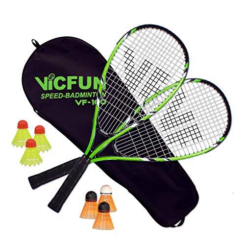 VICFUN Unisex– Erwachsene Speed Badminton 100 Set Premium, Green, Einheitsgröße