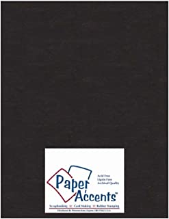 Paper Accents Chipboard 8 1/2 x 11 in. Extra Heavy Black (25 sheets)