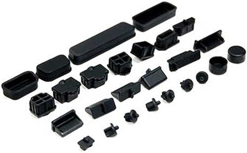 2021 MALLOFUSA Black Silicone sale Dust high quality Covers Caps 26pcs Set outlet online sale
